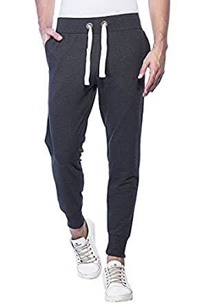 Alan Jones Clothing Men's Grey Track Pants(JOG17-86-DGREY-S_Small_Dark Grey)