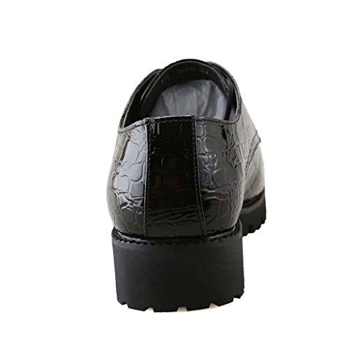 ZXCV Scarpe all'aperto Scarpe in pelle da uomo, scarpe casual traspiranti esterne Nero