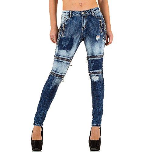 Ital-Design - Jeans - Femme Bleu