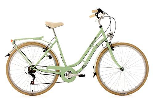 KS Cycling Damen Fahrrad Cityrad Casino 6 Gänge Grün, 28 Zoll -