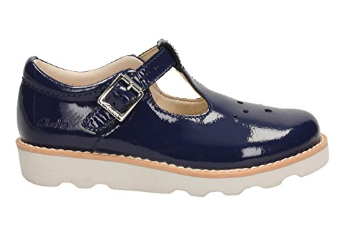 Clarks Crown Pop Inf Girl's Casual Shoes in Navy Patent/ Wine Patent Navy Patent