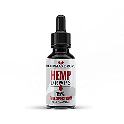 Hemp Oil Drops 5% 500mg 10ml Amber Hemp Drops | Raw Natural Ingredients | Vegan Friendly by HempMaxDrops