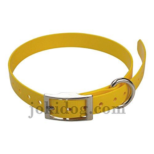 sangle pour collier Garmin Mini T5 , TT15 - 19 mm x 60 cm x 2 mm jaune oeuf