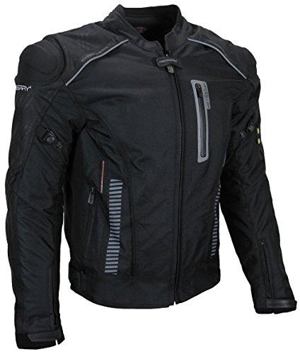 Textil Motorrad Jacke Motorradjacke Heryberry Schwarz Gr. XXL