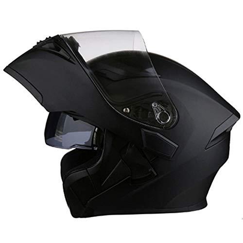 Motorradhelm/DOT & ECE Standard Flip Frontmotocross Motobike Sun Visor und Goggles Adult Street...
