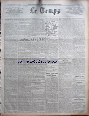 TEMPS (LE) [No 20877] du 03/09/1918 - PARIS 2 SEPTEMBRE - BULLETIN DU JOUR - LES DEUX VOIX ÔÇô DEPECHES TELEGRAPHIQUES ÔÇô LE PROGRAMME DE REFORMES ALGERIENNES ÔÇô MILLE QUATRE CENT QUATRE-VINGT-ONZIEME JOUR ÔÇô LA GUERRE ÔÇô LA SITUATION MILITAIRE ÔÇô COMMUNIQUES OFFICIELS DU 1ER SEPTEMBRE ÔÇô COMMUNIQUE FRANCAIS ÔÇô LA GUERRE AERIENNE ÔÇô COMMUNIQUE BRITANNIQUE ÔÇô LA GUERRE AERIENNE ÔÇô COMMUNIQUE AMERICAIN ÔÇô LÔÇÖOFFENSIVE FRANCO-ANGLAISE ÔÇô LA REPRISE DE PERONNE ÔÇô SIMPLE RESUME ÔÇô M C