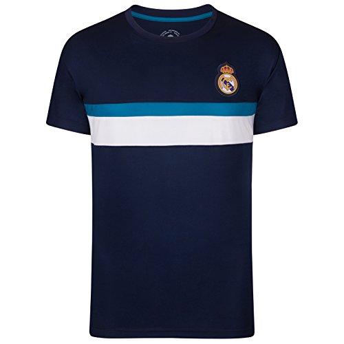 Real Madrid Camiseta Oficial para Entrenamiento - para Hombre - Poliéster - Azul Marino - XL