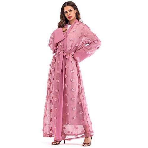 e0cff06f73ce9 BaZhaHei Musulmán Mujer túnicas étnicas Abaya islámica musulmana Oriente  Medio Maxi vendaje Kaftan La Sra Musulmana