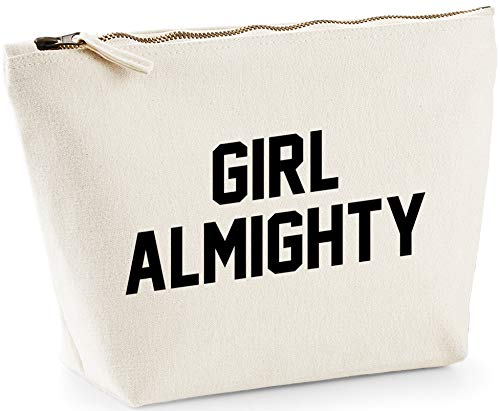 Hippowarehouse Girl Almighty Bolsa de Lavado cosmética Maquillaje Impreso 18x19x9cm