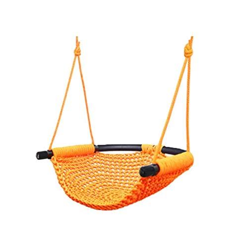LQW HOME-schaukeln Hängematte Seil Outdoor Net Pocket Swing Woven Stuhl Hängenden Korb Baby Net Bett Erwachsene Indoor Haushalt Kinder (Color : Orange, Größe : 45 * 43cm) (Outdoor-hängematte-schaukel-bett)