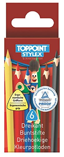 Mini Buntstift, Dreikant Buntstift 8,8cm 6 Bunte Stifte