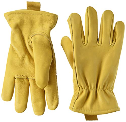 American Made genarbten Rindsleder Leder ungefüttert Arbeit Handschuh -