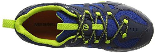 Merrell Tahr Waterproof, Chaussures de Randonnée Basses Homme Ebony/Tndr Shoots