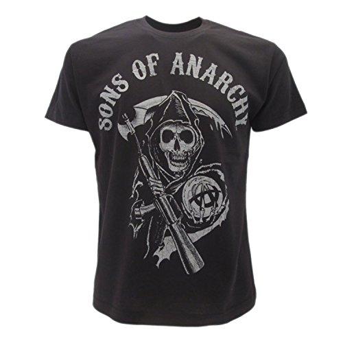 Sons of Anarchy Herren T-Shirt schwarz schwarz Small (Offizielle Sons Of Anarchy)