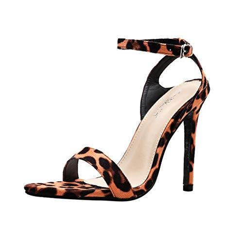 Donna Sandali, DressLksnf Elegant Estivi Sandalo Casual in Stile Romano con Cerniera Larga Comfort Basse Tacco Basso Mid Scarpe Sera Party Shoe