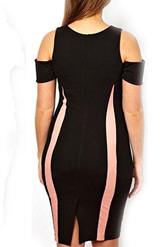 Dissa® femme Noir SY21375 robe de cocktail Noir