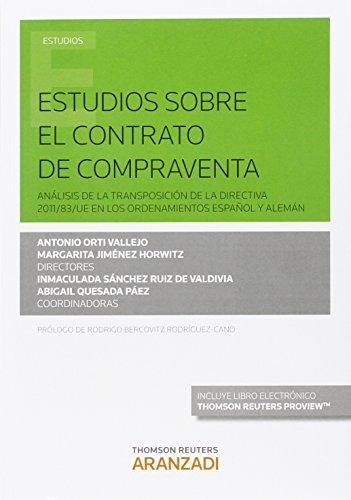Estudios sobre el contrato de compraventa (Monografía)