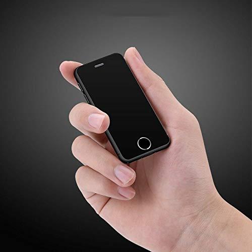 JJA BROS Ultra Pense Melrose S9X Quad Core 1 Go de RAM + 8 Go de ROM 2.5 Pouces Android 6.0 Carte de crédit en Plastique Super Mini Smartphone Téléphone Mobile (Noir)