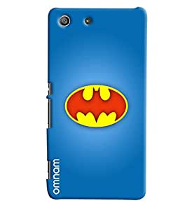 Omnam Printed Batman Logo Cover Blue for Sony Xperia M5