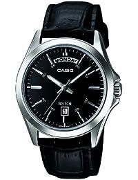 Casio MTP-1370L-1AVEF - Reloj analógico de cuarzo para hombre con correa de piel, color negro