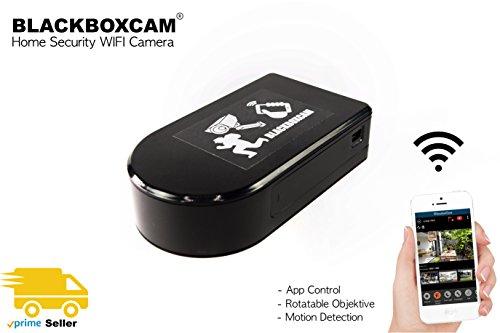 WLAN BlackBox Überwachungs Netzwerk Kamera Mini mit 180° drehbarem Objektiv kabellos mit App (Rotate)