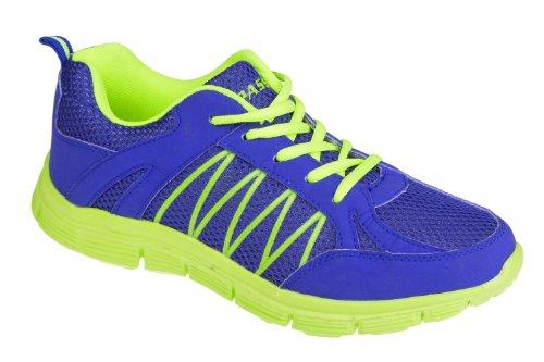 Gibra , Baskets pour homme Bleu - Blu / Verde Neon