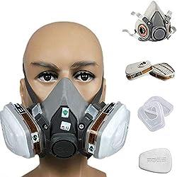 Alftek 7en 1Demi Masque Visage pour s'adapter pour 3m 6200gaz Spray Peinture Protection respiratoire