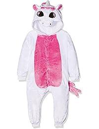 Kigurumi Costume Cosplay Halloween E Pigiama-Pink Unicorn, Pijama Unisex-Niños