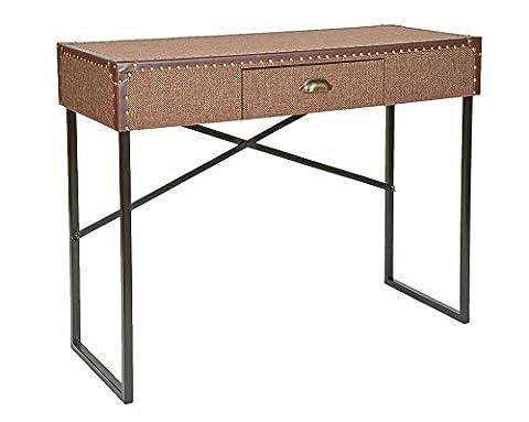 ts-ideen Buffet Secrétaire Console Style vintage/valise Marron Salon salle à manger entrée chambre bureau