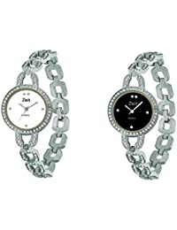 Zeit Silver Round Analog Watches For Women - Pack Of 2