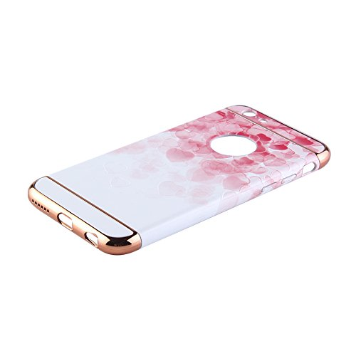 "Eleoption Apple iphone 6/6s Schutzhülle Kreativität handlich abziehbar case 3D Reliefmalerei Slim PC Hard Back Case Cover (iphone 6/6s 4,7"", Pfingstrosen) Liebe"