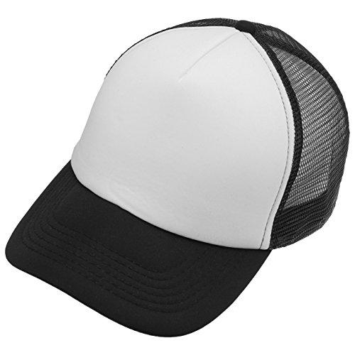 Imagen de lipodo  de malla rapera años 70 mujer/hombre   de camionero 100% poliéster   de béisbol en talla única 55 60 cm  negro blanco alternativa