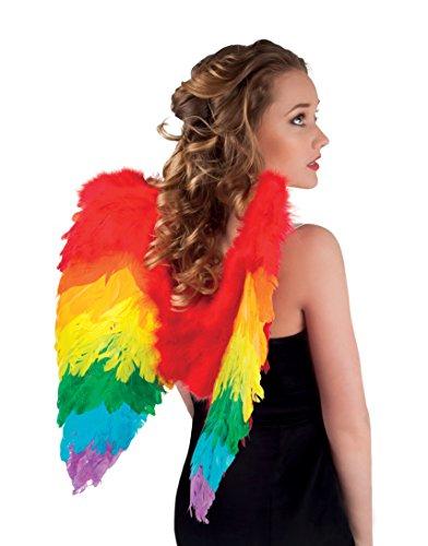 Federflügel, regenbogen, gefaltet, 50 x 50 cm (Engel Flügel Kostüme)