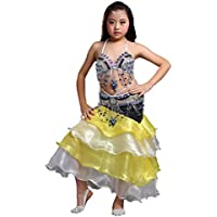 Calcifer - Ovillo de Lana de Corea del Sur para Baile, Baile, Disfraz de Baile, 3 Piezas, cinturón, Falda, Plateado