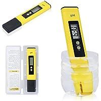 PH Medidor de Digital Eléctrica CGBOOM Portátil de PH Tester Meter Digital Tamaño Bolsillo 0.1 pH con ATC (0 ~ 50°C) Y LCD Retroiluminación y Funda Tester ...