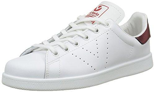 Victoria Deportivo Basket Piel, Sneakers Basses mixte adulte Rouge (burdeos)