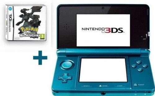 Nintendo 3DS BLEUE LAGON + POKéMON VERSION BLANCHE