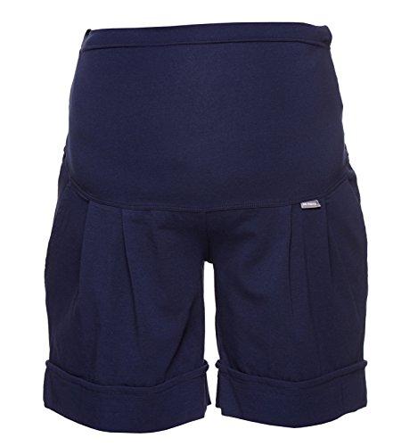 Be. Mama fait Pantalon, Short pour les femmes enceintes, Haute coton, modèle: Sawyer Bleu - Bleu foncé