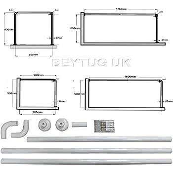 Shower curtain railrod 4 way use l shape u shape corner rail compare with similar items ccuart Image collections