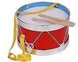 Trommel für Kinder Marschtrommel Blechtrommel rot mit Gurt 22 cm