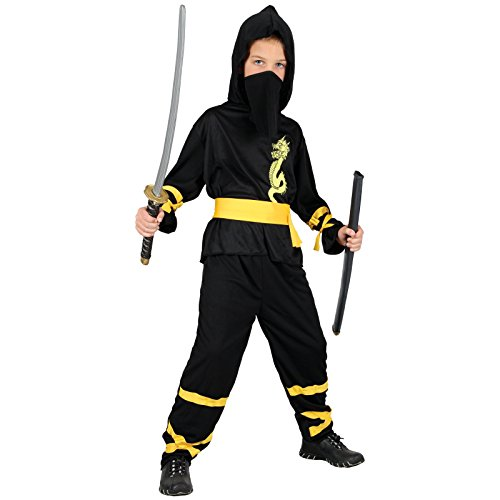 DRAGON NINJA CHILDREN KIDS COSTUME FANCY DRESS UP (Kostüme Ninja Dragon Fire)