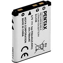Pentax D-Li108 Ión de litio 720mAh 3.7V batería recargable - Batería/Pila recargable (Ión de litio, 720 mAh, 3,7 V, Color blanco, Optio M90, 2,6 W)