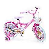Bicicleta Niña Chica LOL Surprise16 Pulgadas Frenos al Manillar Cesta y Portabultos Rosa 85% Montado
