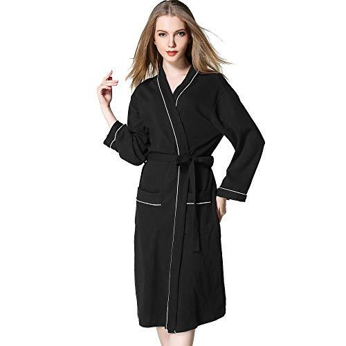 Damen Nachthemd,Oliviavan Frauen Pyjamas Einfach Europäischer Stil Winter verlängert Coralline Plüsch Schal Bademantel Langarm Robe Mantel
