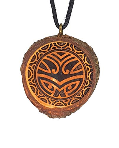 i 7 Holzkette Halskette - Tribal - Hawaii - Neuseeland - Surfer - Surferschmuck - Vaiana - Maui - Aloha - Hula - Herren - Männer - Surferketten ()