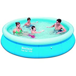 Bestway Fast Set 57273 - Piscina (Azul, Inflable, Alrededor, PVC, Caja a todo color)