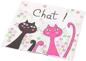 Fox trot 6416chat 20 tovaglioli di carta decorati gatto casa e cucina - Tovaglioli di carta decorati ...