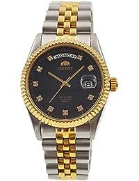 """Orient """"Oyster Classic automático Sapphire 2tono oro reloj ev0j002b"""