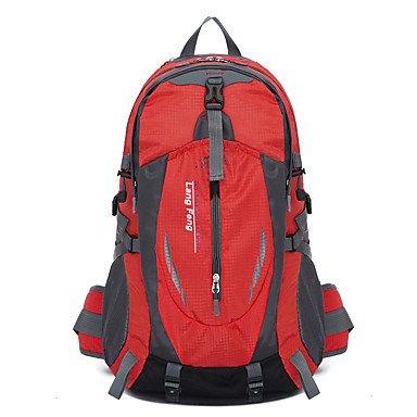 35 L Rucksack Klettern Freizeit Sport Camping & Wandern Regendicht Staubdicht Atmungsaktiv Multifunktions Red