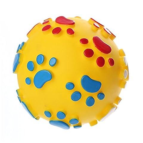 WenL Hund Ball Dauerhaft Ungiftig Thermoplastischen Gummi Zufällige Farbe,Yellow-10Cm